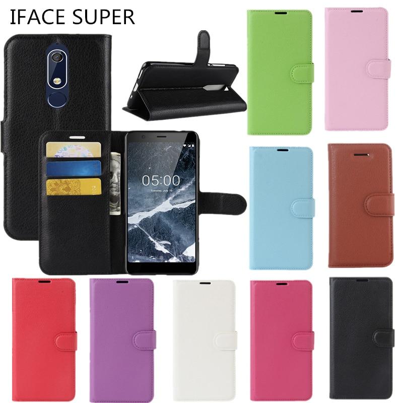Nokia 5 2018 Case Nokia 5.1 Cover Flip Wallet PU Leather Back Cover Phone Case Nokia5.1 TA-1061 TA-1075 A-1076 TA-1081 TA-1088