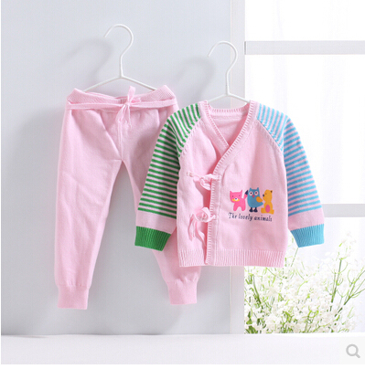 Baby Sweater Set Autumn Baby Clothes Soft And Comfortable Baby Sweater For Boys And Girls 0-6 Month Knit Baby Sweater