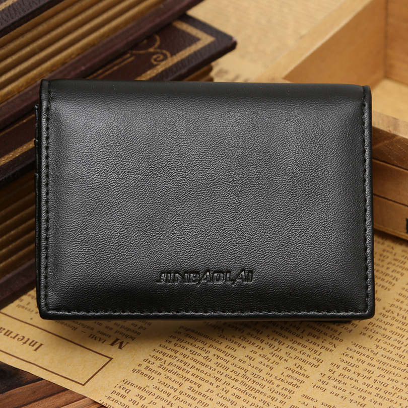 JINBAOLAI Men\'s business card holder Large capacity wallet for men ...