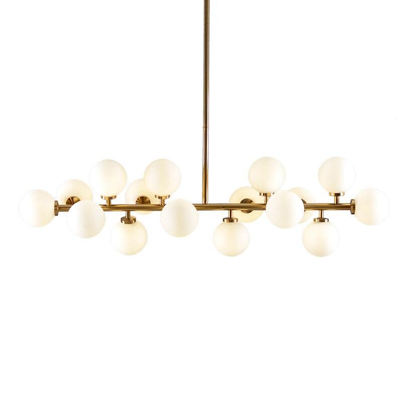 Ouro/Preto 16 Cabeças de Feijão Mágico LED Modern Art Glass Pendant Light para Cozinha Sala de Jantar Luminárias Industriel de Ferro Retro iluminação