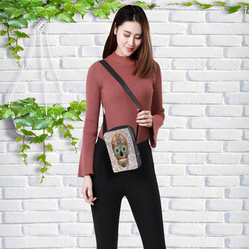 Skull Messenger Crossbody Bag