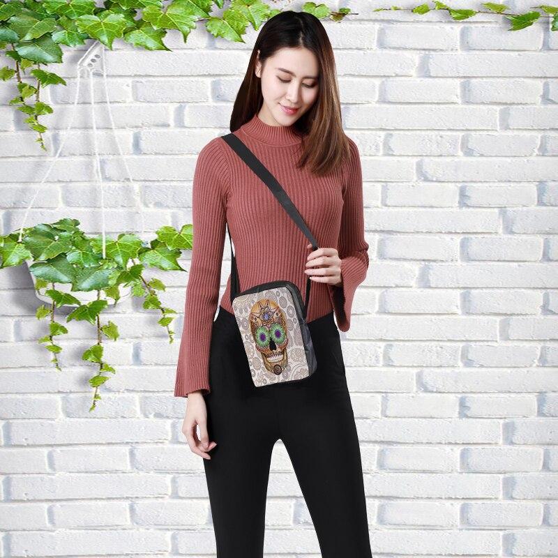 2019 mode Messenger Taschen für frauen Punk stil Schulter Tasche Kinder Umhängetasche für Mädchen schädel stil kinder tasche 23x17x5cm