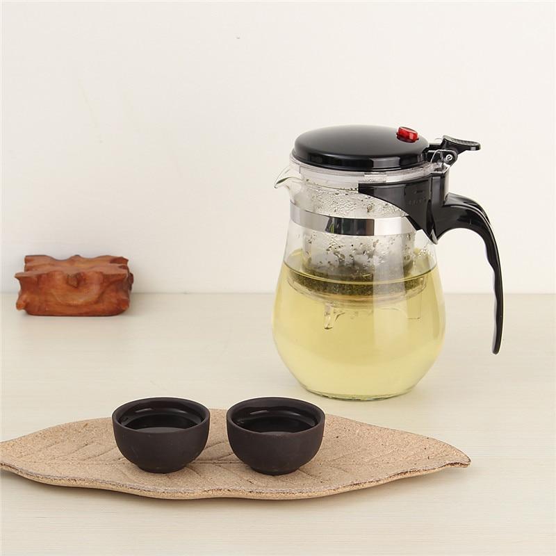 500ml Heat Resistant Glass Tea Pot Flower Tea Set Coffee Pot Kettle Puer Kung Fu Teapot