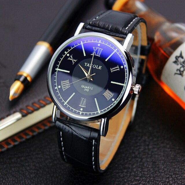 f8b169f1782 YAZOLE Top Brand Luxury Wrist Watch Men Watch Leather Men s Watch  Waterproof Watches Clock relogios erkek kol saati reloj hombre
