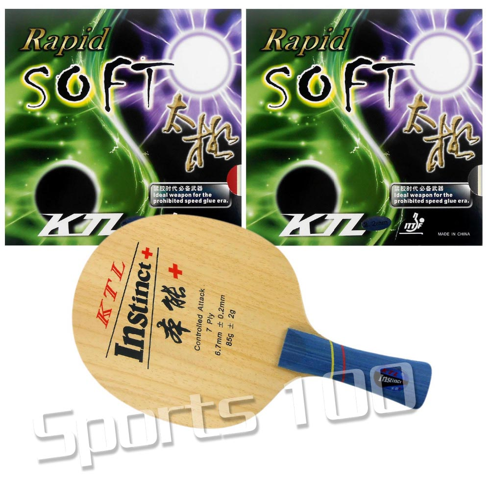Pro. Table Tennis Racket KTL Instinct+ Long Shakehand FL With 2Pieces Rapid-Soft