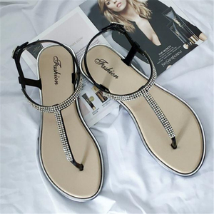 Image 2 - לקדוח מים חדשים ב 2018, בנות עם דירות בקיץ, נעליים רומי, נעליים מזדמנים, ללא החלקה של נשים עקבים שטוחים, סנדלי
