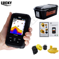 Lucky Fish Finder FF718LiC Russian Language Waterproof Monitor 2 in 1 Wireless Wired Sonar Transducer Winter Ice Carp Fishing#C5