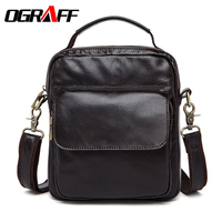 OGRAFF Men Messenger Bags Genuine Leather Men Bag Casual Shoulder Crossbody Bag Business Small Leather Handbag