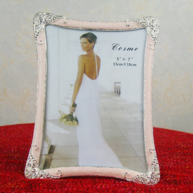 artistic pink photo frames / wedding decoration picture frames / 7 ...