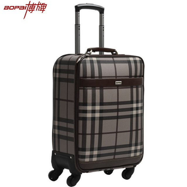 2016 New Fashion High Quality Rolling Luggage On Wheels for Women and Men Vintage Trolley Suitcase 20 22 24 Inches Travel Bags
