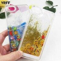 YRFF face facial expression Marine animal phone case cover for iphone 6 6s plus Glitter Quicksand Liquid Luminous Phone Case