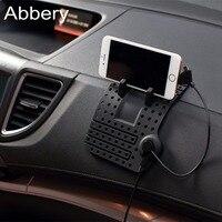 Abbery車電話ホルダーアンチスリップシリコーンパッド磁気充電スタンドベース用iphone 7 6 sアンドロイド充電ケーブル電話サポート