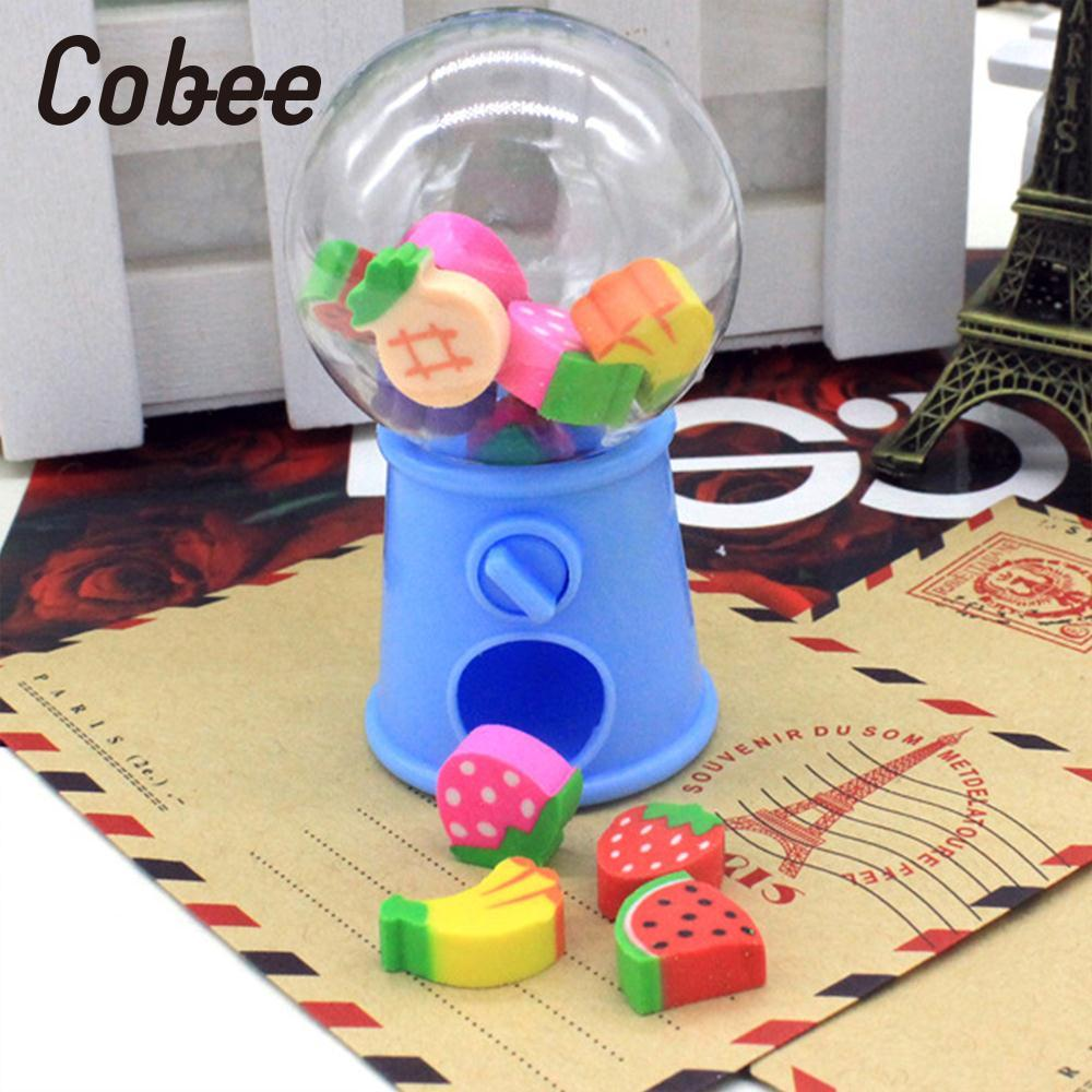 Cobee Pencil Eraser Writing Cleaner Cartoon Twisted Egg Machine Gifts School Office Supplies Stationer Children Gifts