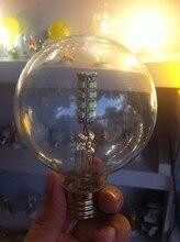 Pack Of 10 Bright Vintage 6W Milk Ball Glass Edison Bulb E27 LED bulbs G95 E27 Screw Corn Warm White AC110V-220V 240V