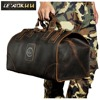 High Quality Mens Genuine Real Cowhide Leather Duffle Gym Travel Luggage Suitcase Messenger Shoulder Bags 803165