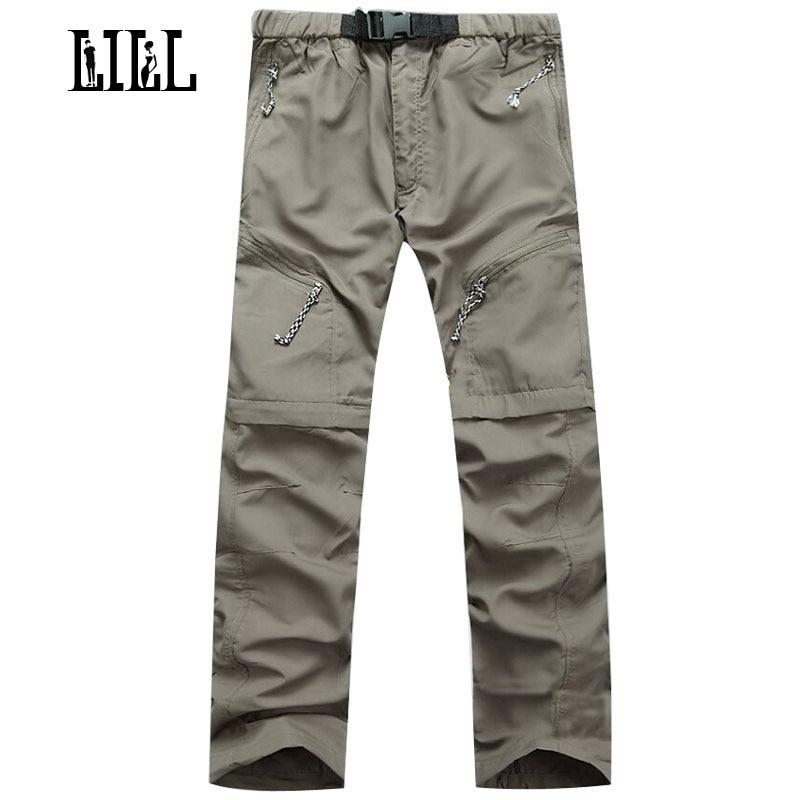 LILL   Hommes Multifonction Étanche Casual Pantalon Hommes Voyage Pantalon 2017 Joggeurs pantalons de Survêtement Militaire Lâche Pantalon Cargo, UA029
