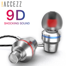 цена на !ACCEZZ In-Ear Earphone With Microphone Super Bass 3.5mm Audio Jack Earphones For Xiaomi Samsung S6 iphone Wired Stereo Headset
