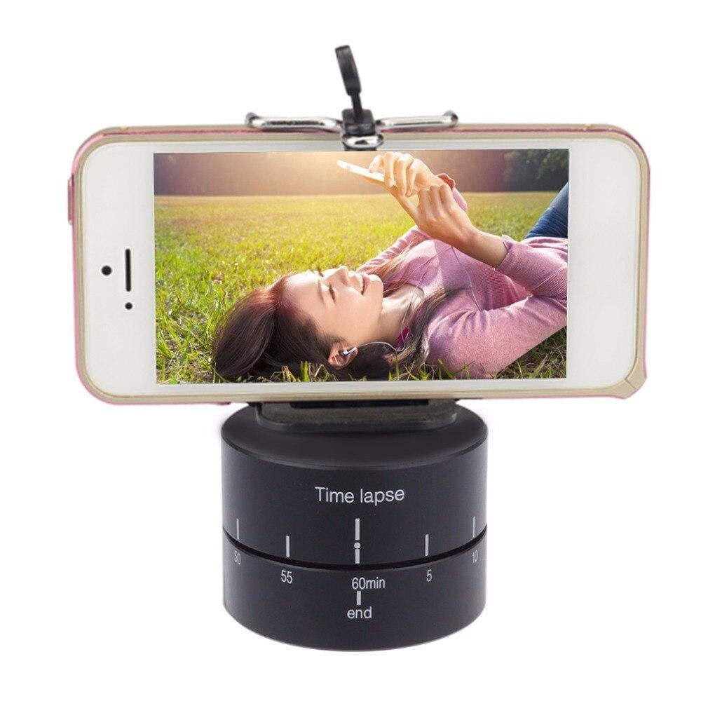 Accéléré Caméra trépied tête base 360 degrés Rotation Automatique 360 TL timelapse Pour Xiaoyi pour Gopro Caméra REFLEX pour iphone andriod