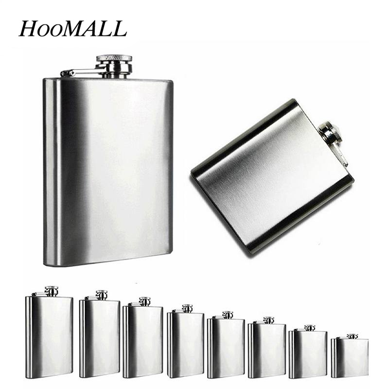 Hoomall Hip Flasks Portable Wine Whisky Pot Flagon Stainless Steel Drinking Bottle Pocket Brandy Vodka Container Gift ...