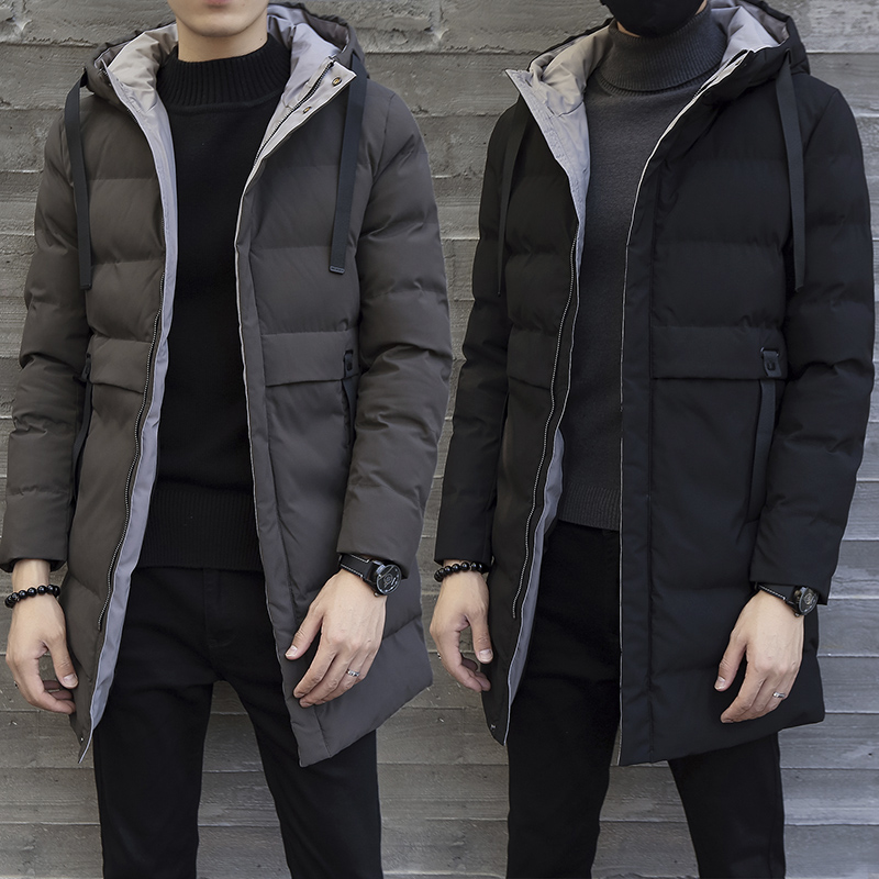 New Winter long Coats Men Warm Casual Jacket outerwear fashion thick   parkas   brand clothing High Quality cotton-padded jacket