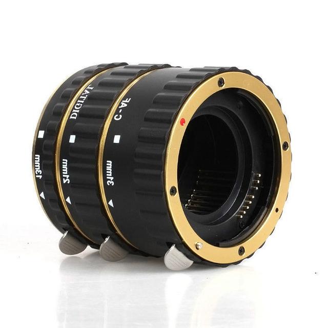 Para Canon Adaptador de Lente de Montagem De Metal Auto Foco AF Macro Tubo de Extensão Anel para Kenko Canon EF-S Lens