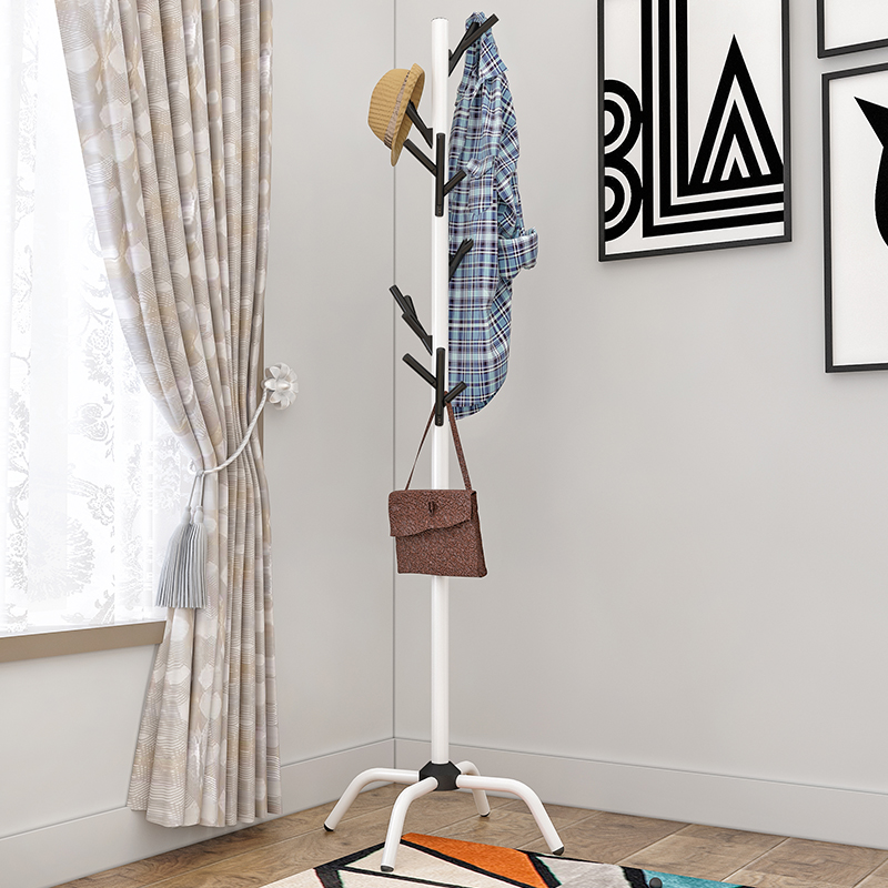 Coat Rack Multifunctional Floor Home Bedroom Hanger
