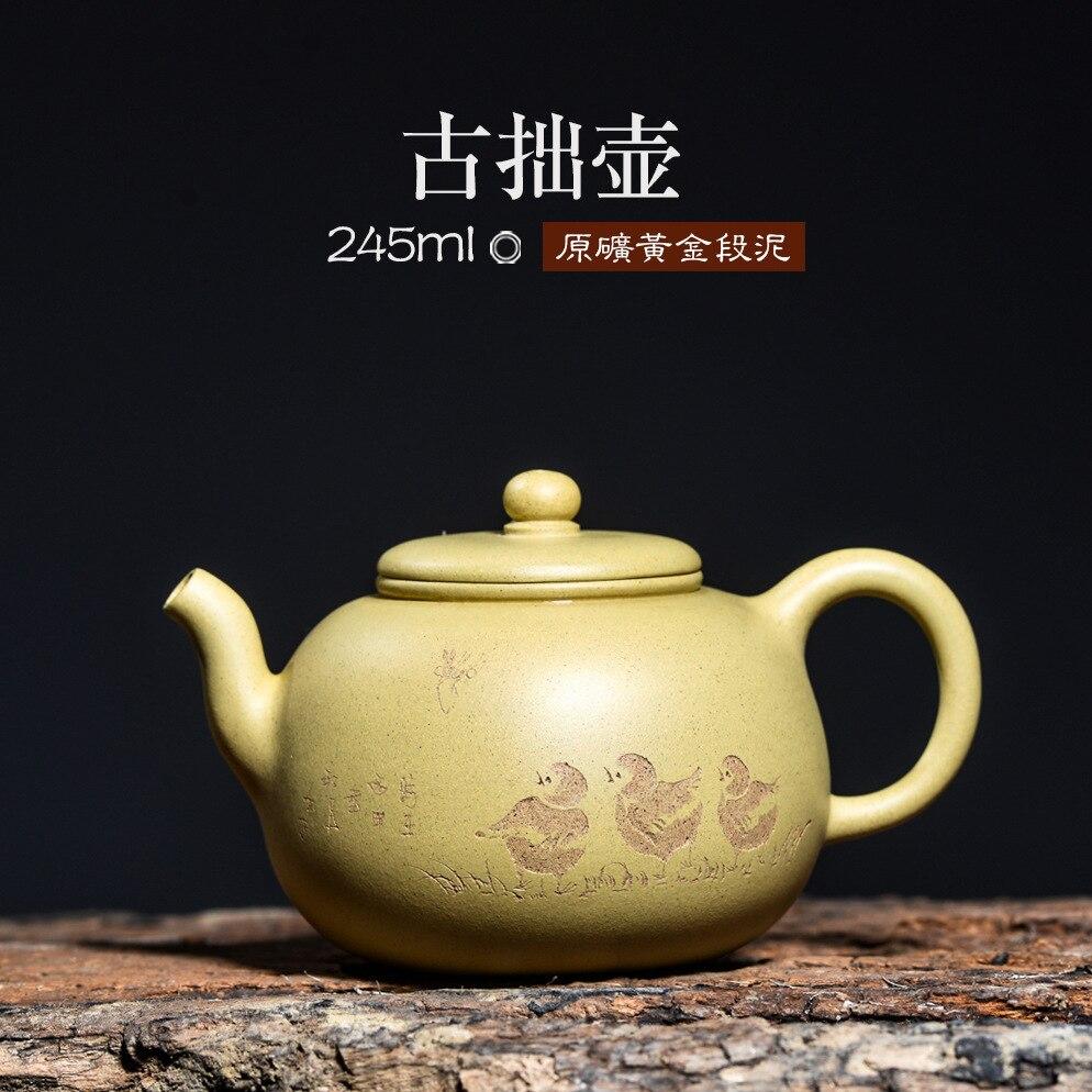 245ml Yixing authentic purple clay tea pot master pure handmade mud Zisha teapot Kung Fu tea kettle gift set custom teapot
