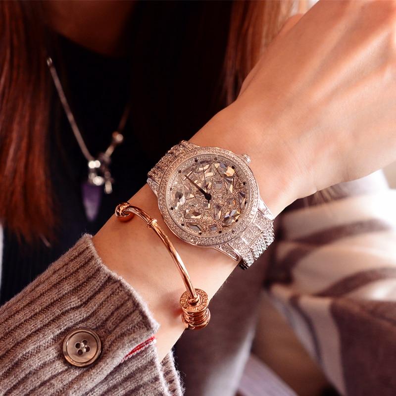 2017 New Wrist Watch Luxury Glitter Diamond Ladies Watch Women Watches Fashion Women's Watches Clock montre femme reloj mujer carnival fashion automatic watch women top brand luxury mechancial watches diamond golden dress ladies wrist watch reloj mujer
