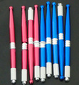 50Pcs Blue Red Color Tattoo Factory Wholesale  Professional Manual Tattoo Permanent Makeup eyebrow Pen Free Shipping