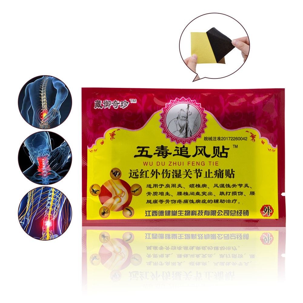 8pcs/bag New Arrival Arthritis Body Back Neck Muscle Meridians Stress Relieving Chinese Herbal Plaster Pain Relief Patch