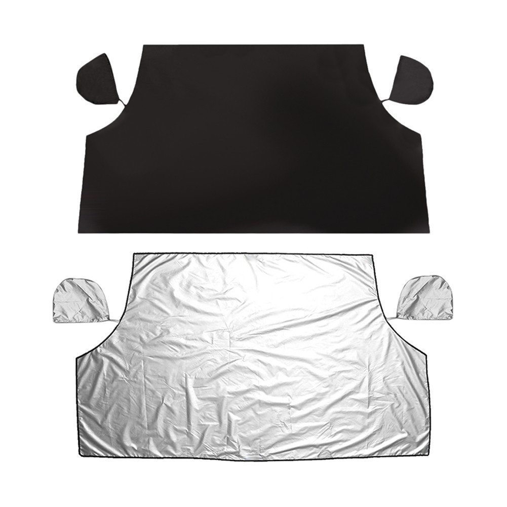 ᗗCar Sunshade Cover Dual-Use Winter Front Windshield Snow