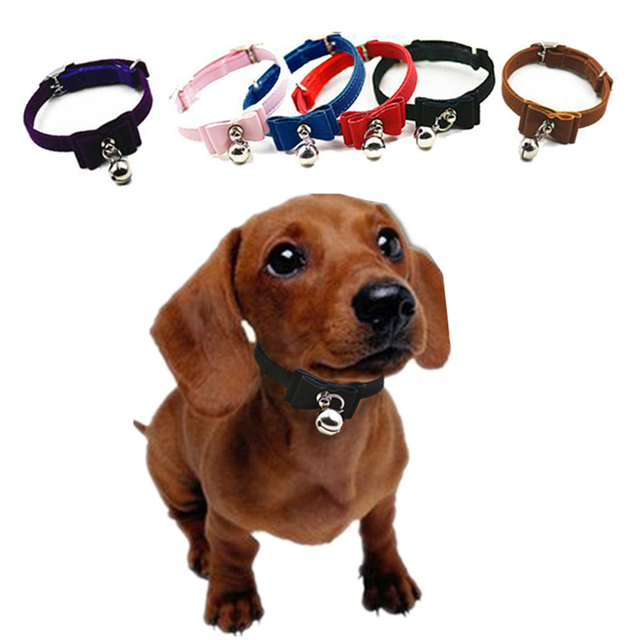 Beautiful Dog Collar Bow Adorable Dog - Dog-Collars-For-Small-Dogs-Cats-1-0-20-30CM-Cute-Bow-Bell-Collar-Puppy-Collars  Gallery_100128  .jpg