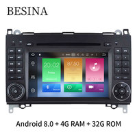 Besina Android 8 0 Two Din 7 Inch Car DVD Player For Mercedes Benz Sprinter W169