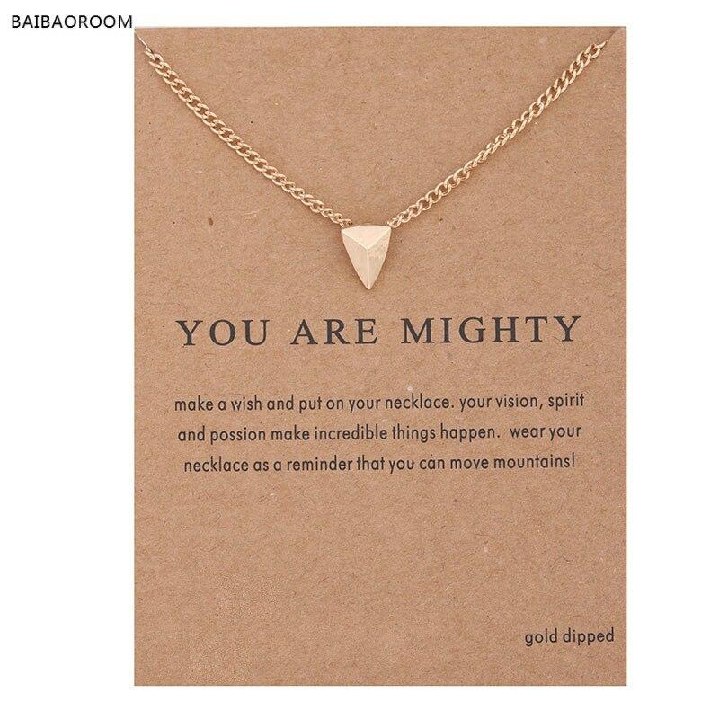Sparkling Carpe Diem gold-color Pendant necklace Stud Clavicle ChainsFashion Statement N ...