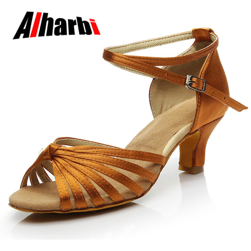 Alharb New Latin Dance Shoes For Women Girls Tango Salsa Ballroom Dance High Heels Soft Dancing Shoes 5/7cm Ballroom Dance Shoes
