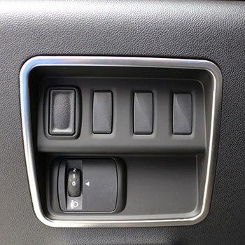 Colore La Mia Vita Car Chrome Fari Interruttore di Protezione del Cerchio di Copertura Trim Adesivo per Renault Koleos per Samsung QM6 LHD 2017 2018