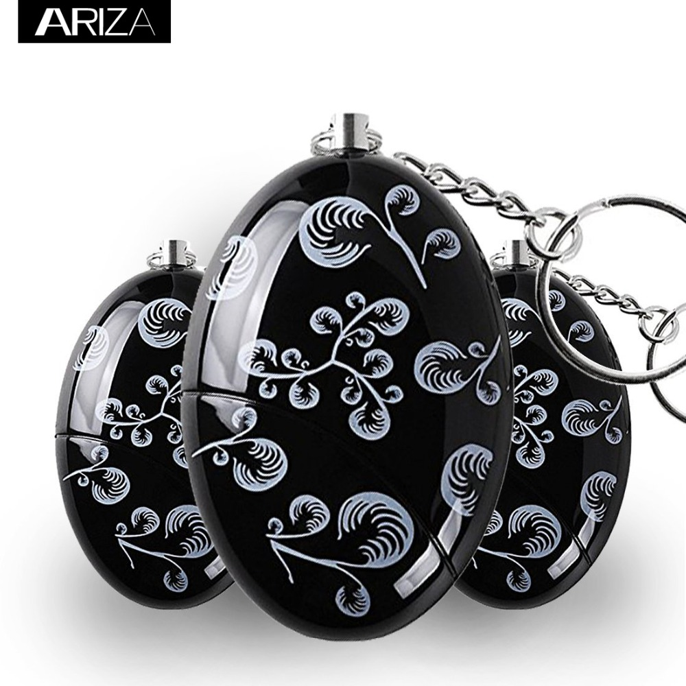 Ariza 2pcs Personal Alarm Keychain Panic Alarm Self Defense Supplies Emergency Anti-attack Security Alarm Women Safety Alarm