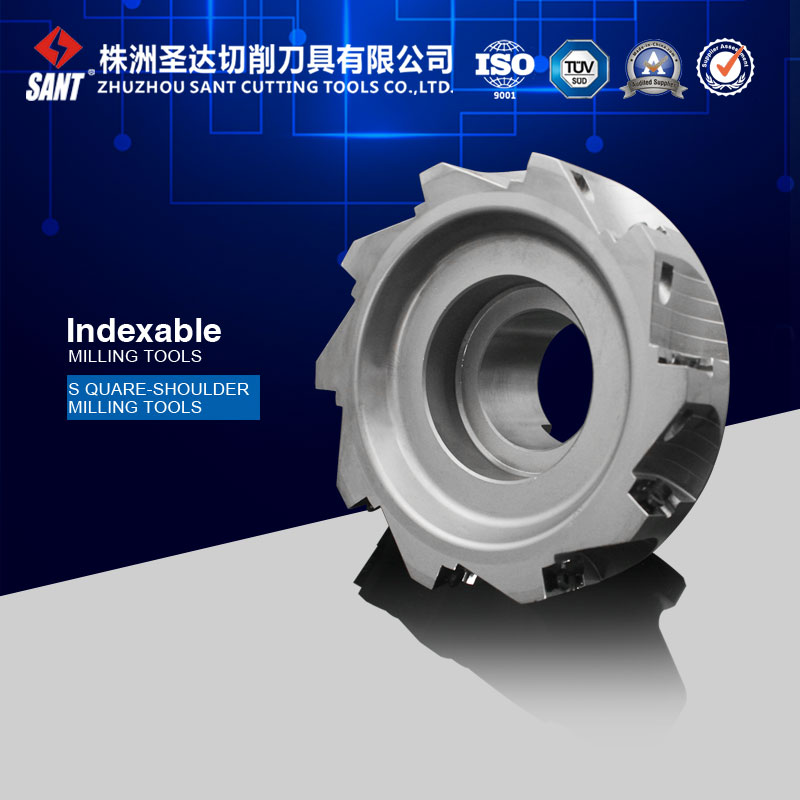 Suqare-shoulder milling cutter EMP02-125-B40-AP16-10, accept customized milling tool  цены