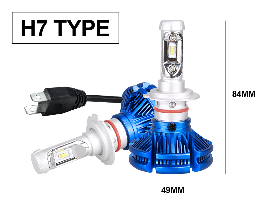 H4 Led CSP Chips H7 LED Headlights Auto-styling Led Car Bulb H1 H11 Fog Lamp Fanless (15)