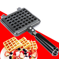 Aluminum Alloy Waffle Mould Non stick Cookie Cake Mold Waffles Pans DIY Muffins Mould