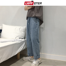 LAPPSTER Uomini Moda Coreano Dei Jeans Pantaloni Stile Harem 2020 di estate Streetwaer Hip Hop Sciolto Denim Jeans Uomo Etero Pantaloni Blu 2XL