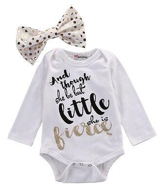 Newborn Girl Baby Cotton Bodysuit+Headband Infant Clothes 2Pcs Set Outfit Baby One-Pieces Stuff