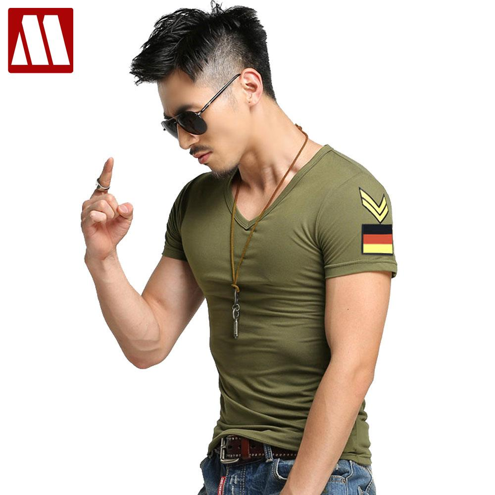New Summer Men Short Sleeved T Shirts Male Tide Slim Tight