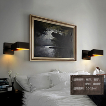 Modern retro deco minimalist wall lamps creative lron LED light cafe room bar lamp corridor lights bedroom bedside E27