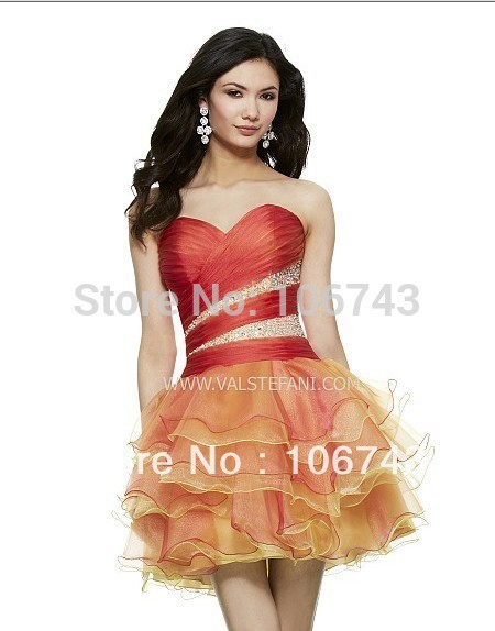 Free Shipping 2015 New Short Ball Gown Beaded Organza Vestidos Special Occasion Sexy Elegant Party Prom Gown Cocktail Dresses