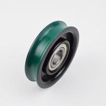 2PCS/LOT Diameter:85mm  85*20*6204Z lift wheel single slot elevator accessories