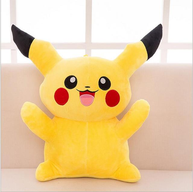 Pikachu Stuffed Animal Big, 1pc 60cm Big Size Pikachu Plush Toys High Quality Very Cute Stuffed Animal Dolls Children Toys Movie Tv Kids Christmas Gift Top Sell Us Action Toy Figures Dolls Stuffedtoys