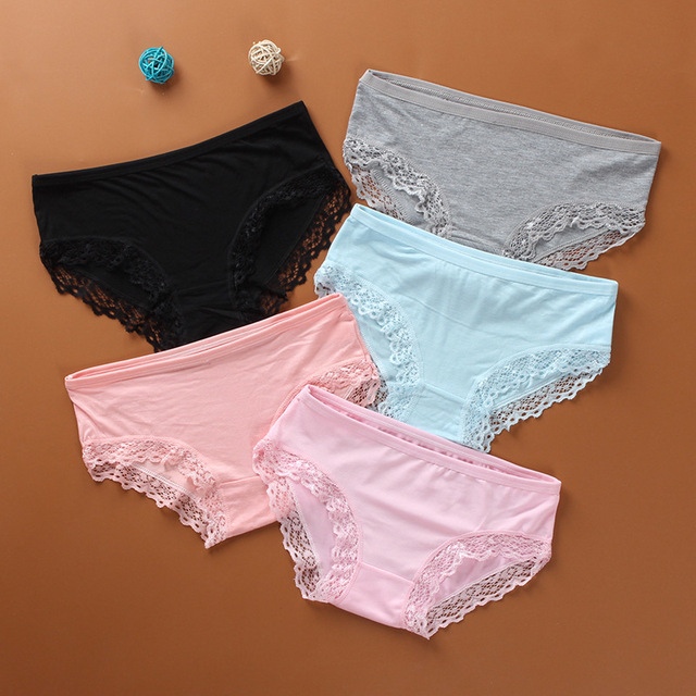 Polyester Soft  Briefs Lace Young Solid Color summer Little Girl's  Big Girl's Underwear Hipster 8-14Years Old  Sport  1piece