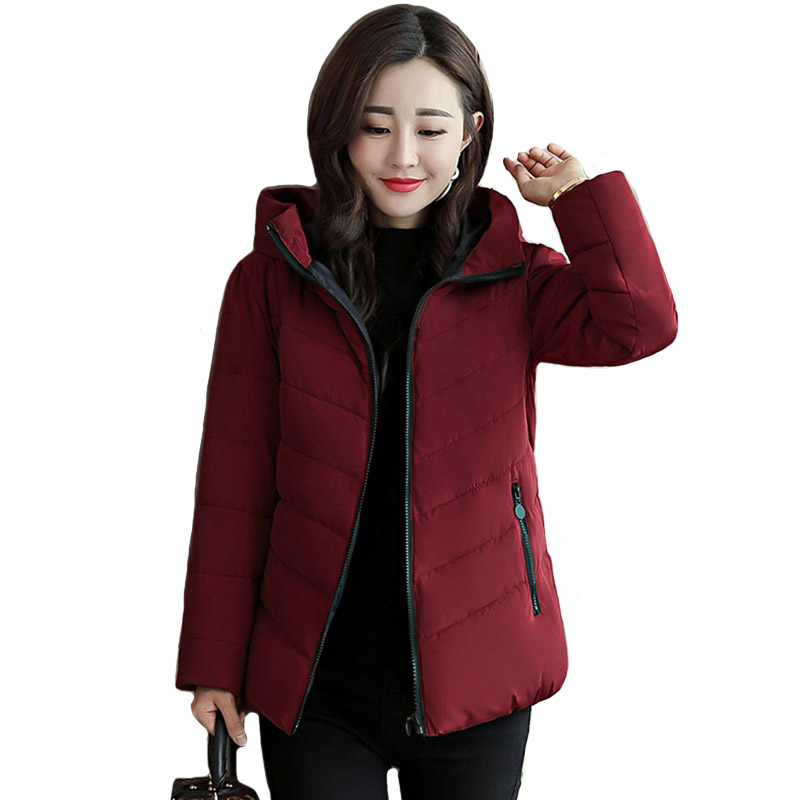 Stand Collar 2019 New Winter   Jacket   Women Autumn Womens   Basic     Jackets   Plus Size 3XL 4XL Short Womens Coat Outwear Casaco