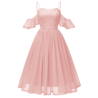 2018 Elegant Lace Autumn Winter Pink Dress Butterfly Sleeve Lovely Dress For Women Sexy Slim christmas Party Dresses Vestidos